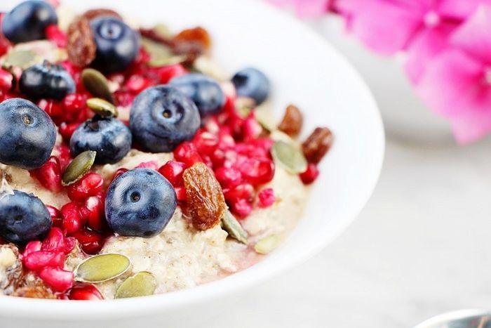 bircher müsli selber machen gesund essen frühstück ideen blaubeeren