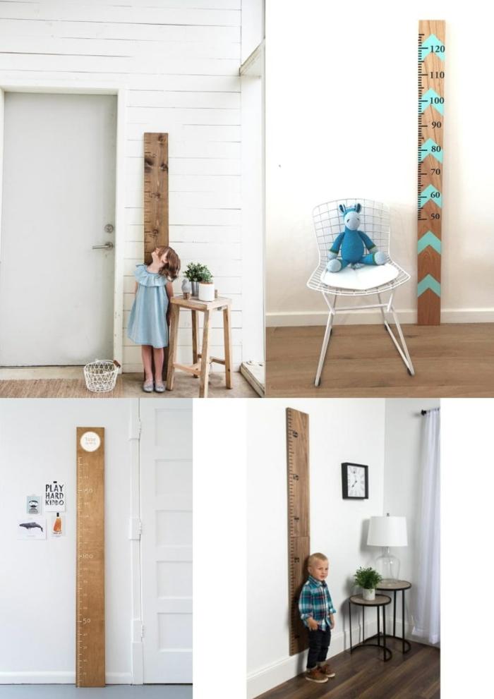 collage inspiration messlatte kinderzimmer aus holz selber machen einrichtung kinderzimmer inspiration ideen minimalistische dekoration