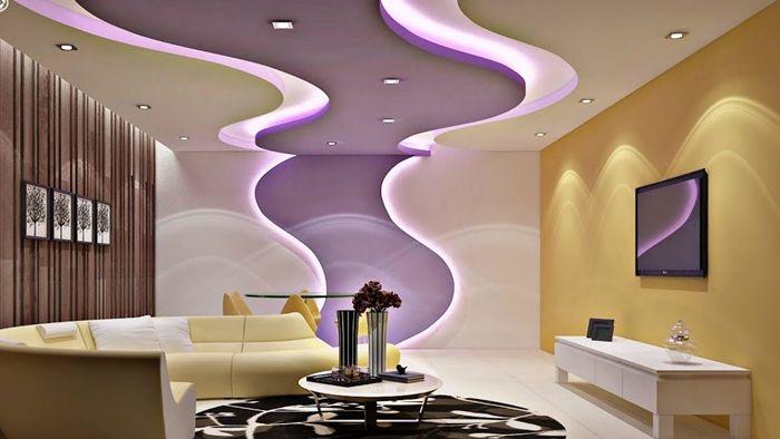 decke deko ideen moderne deckenlösungen mit beleuchtung ausgefallene zimmerdecke