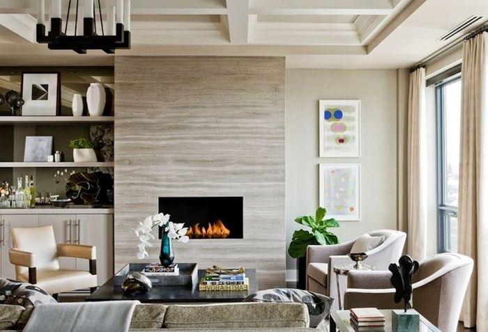 decke gestalten ideen und tipps wohnzimmer gestalten kamin moderne möbel wohnzimmereinrichtung