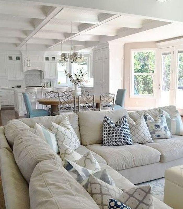 decke gestalten ideen und tipps zimmerdecke wei streichen strand look maritimes flair im wohnzimmer