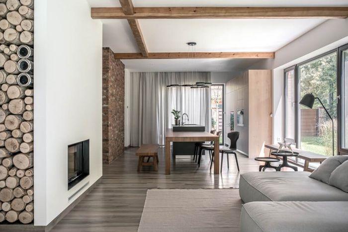 decke streichen ideen zimmerdecke in weiß holzdielen al deko kleines wohnzimmer