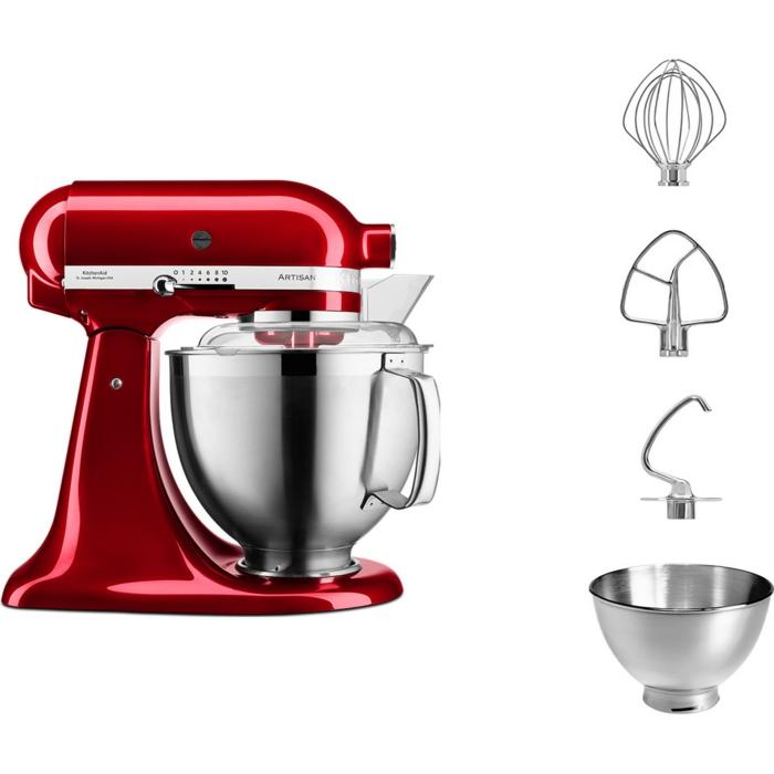 eine rote küchenmaschine
