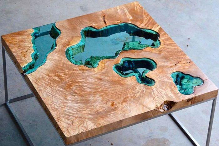 epoxidharz holz füllen eckiger tisch aus massivholz und harz epoxidharztisch tiver table