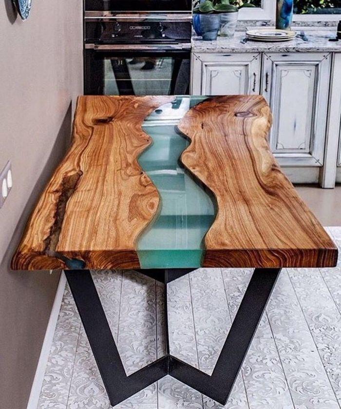 epoxidharz holz füllen massivholztisch tisch aus massivholz und harz river tble