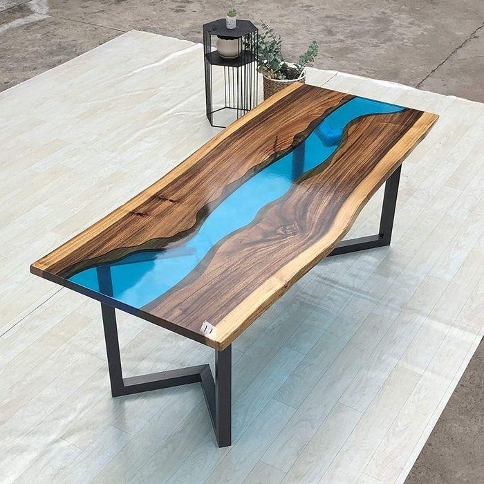 epoxidharz holz füllen river table designs tisch epoxidharz