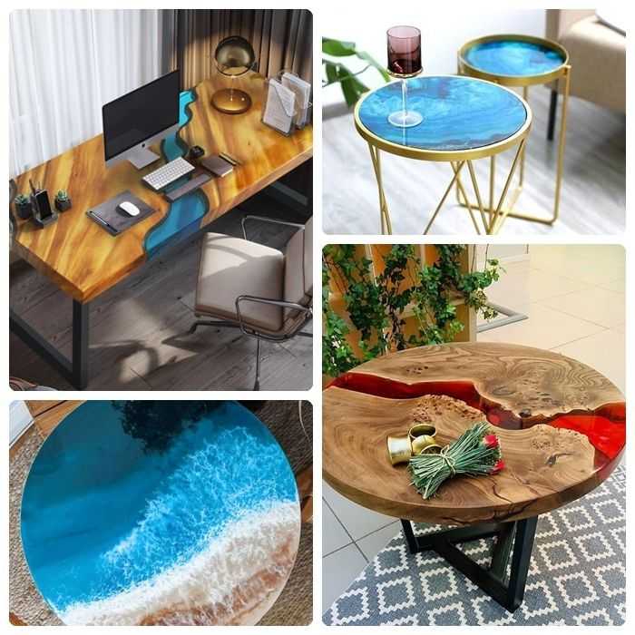 epoxidharz tisch ideen und designs tische aus massivholz einrichtungsideen wohnung einrichten