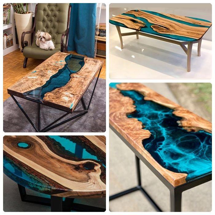 epoxidharz tisch möbel aus massivholz massivholztisch mit epoxidharz