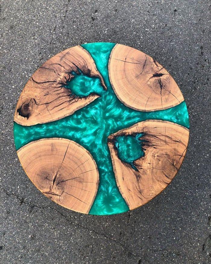 epoxidharz tisch runder esstisch aus epoxidharz und massivholz