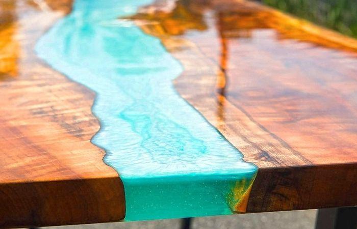 epoxy river table deisngs und ideen einzigartige möbelstücke massivholzmöbel