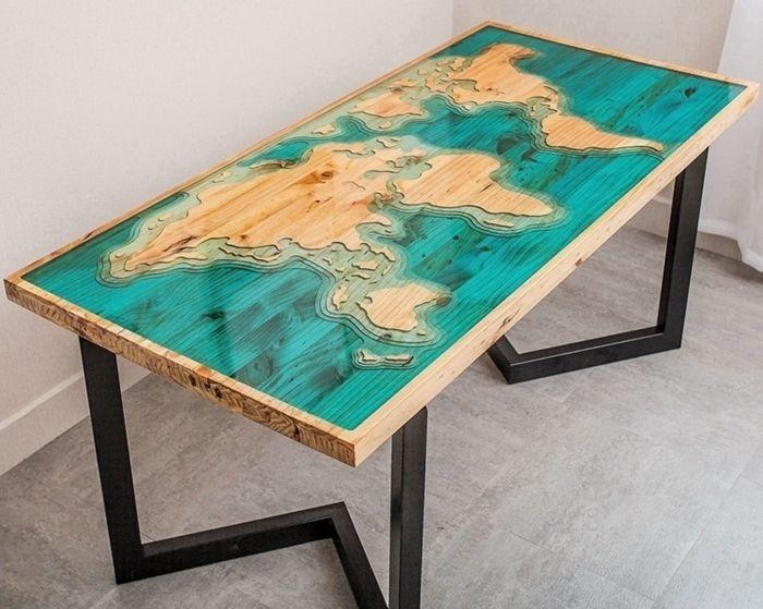 epoxy river table die erdstücke einzigartiges design massivholztisch tisch aus holz