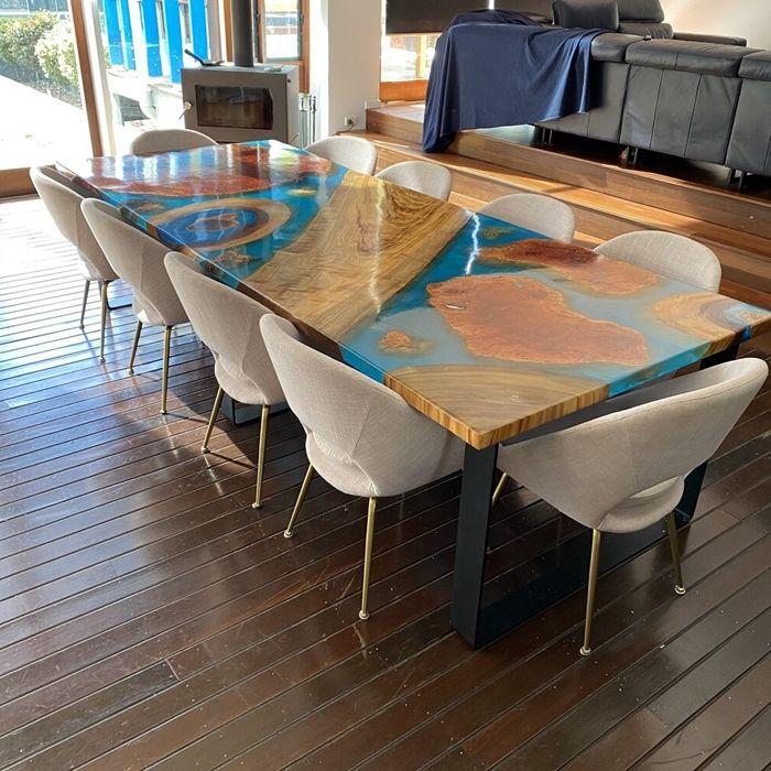 epoxy river table selber bauen tisch machen schritt fr schritt einzigartige möbelstücke
