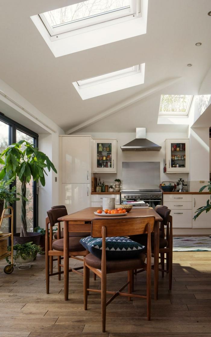 esszimmer mit dachfenster austauschen kosten dekoration mit pflanzen großer esstisch aus holz moderne einrichtung küche