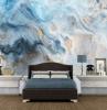 fototapeten für schlafzimmer wände uwalls geeignete fototapete marmor blau weiß gelb bett
