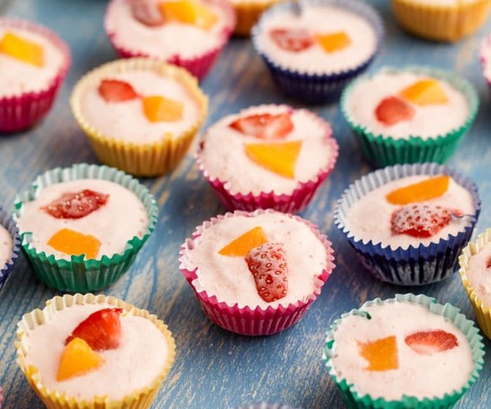 frozen joghurt selber machen rezept mit früchten fingerfood sommerparty essen ideen