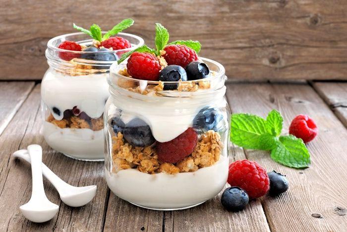 fruchtjoghurt selber machen gesund essen frühcstücksideen parfait mit joghurt
