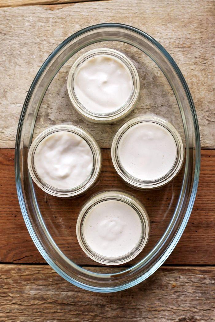 griechischen joghurt selber machen vegan gesund rezept mit mandelmilch