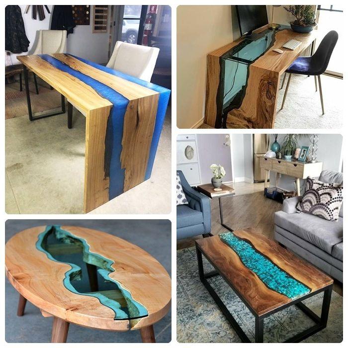holztisch selber bauen tisch aus holz und epoxidharz designs ideen infos