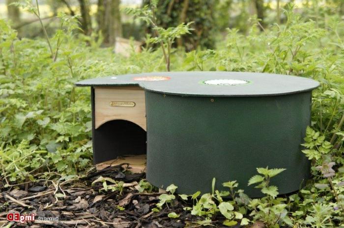 igelhaus selber machen igel überwintern katzensicheres igluhaus bauen rundes grünes igelhaus selber bauen igel im garten