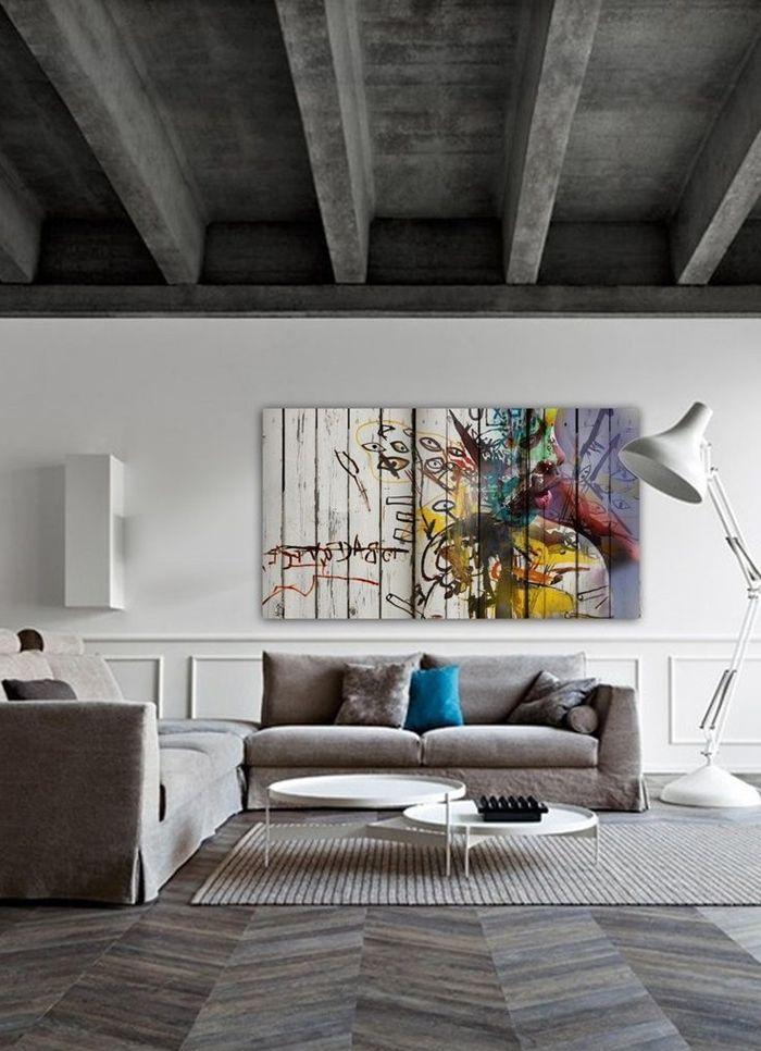 lösungen für zimmerdecken decke in beton optik zimmer einrichten wohnzimmerdeko in grau