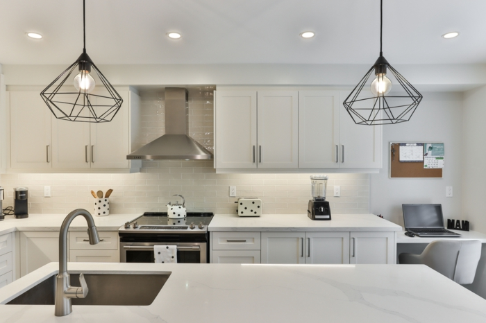 led küchenlampe info küchenbeleuchtung große modern eingerichtete küche mit insel