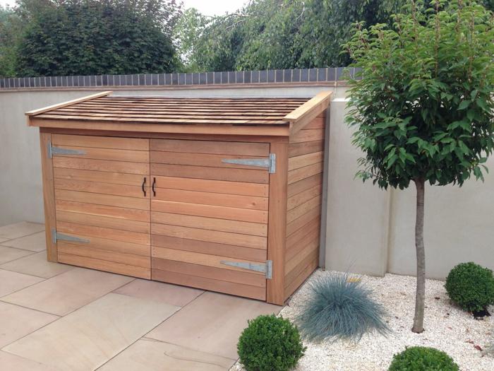 mülltonengarage mülltonnenbox holz selber bauen mülleimer unterstand mülltonnenbox selber bauen