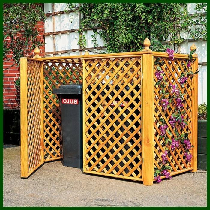 mülltonenngarage mülltonnenbox aus paletten mülltonnenbox holz selber bauen mülltonnenbox bausitz für zwei eimer