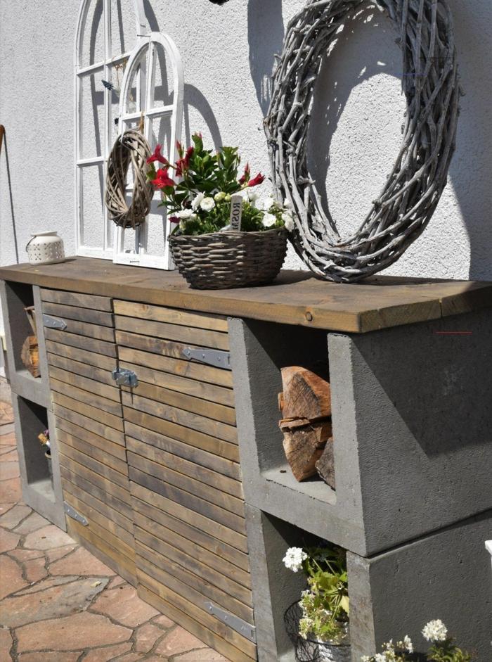 mülltonnenbox bausatz ideen mülltonnenbox holz selber bauen für mülleimer und gartensachen