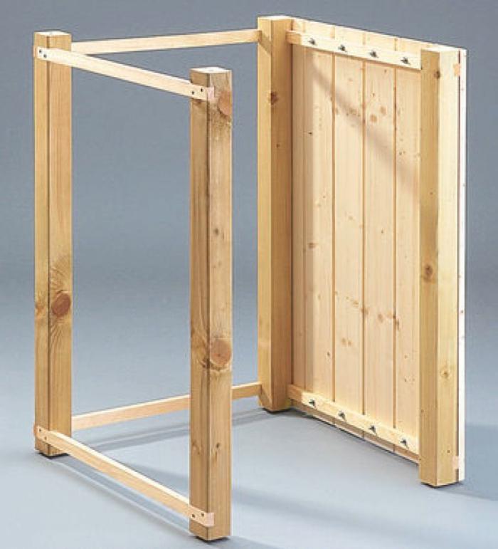 mülltonnenbox bausatz ideen mülltonnenbox selber bauen rahmen zusammensetzen mülleimer verkleidung holz