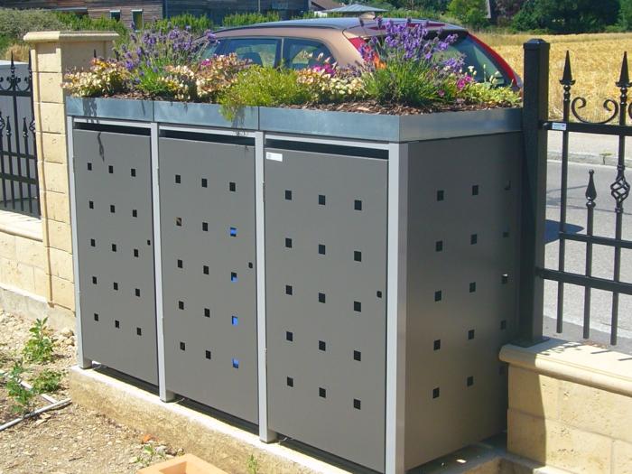 mülltonnenbox selber bauen mülleimer verkleidung alu mülltonnenbox für drei eimer