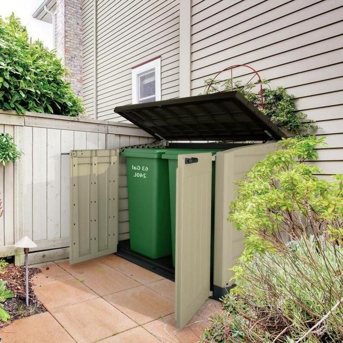 mülltonnenverkleidung ideen mülltonnengarage ideen mülltonnenbox bepflanzbar