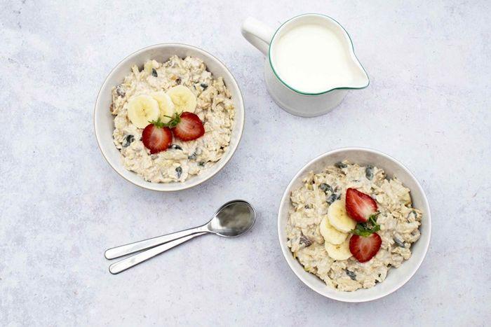 müsli mit joghurt overnight oats haferflocken rezepte zum abnehmen