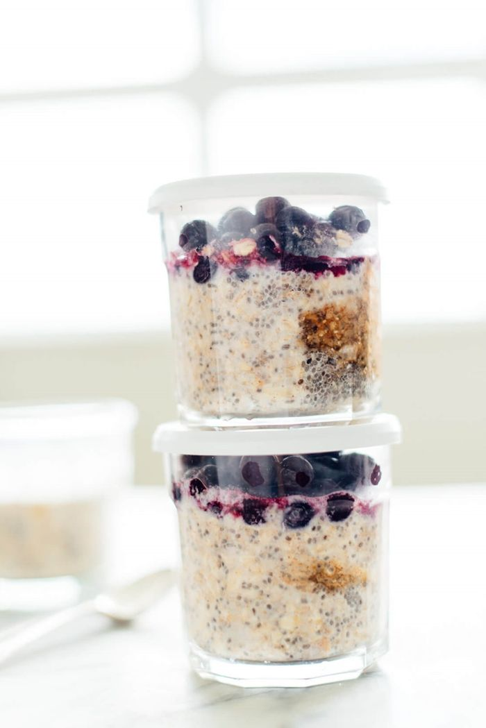 müsli zum abnehmen gesud frühstücken joghurt mit haferflocken und blaubeeren