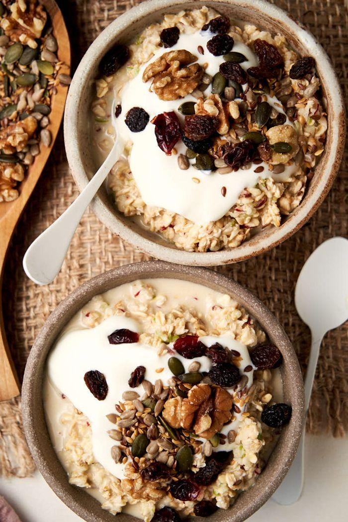 müsli zum abnehmen gesunde rezepte bircher haferflocken overnight oats