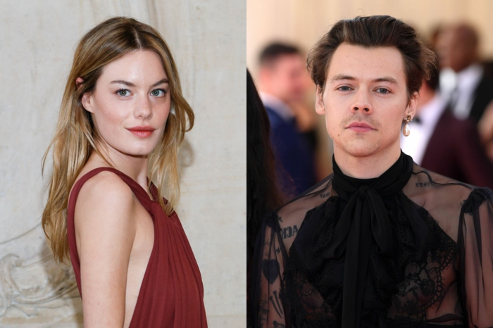 model camille rowe harry styles freundin gerüchte hollywood story rotes kleid met gala 2019 schwarzer gucci outfit