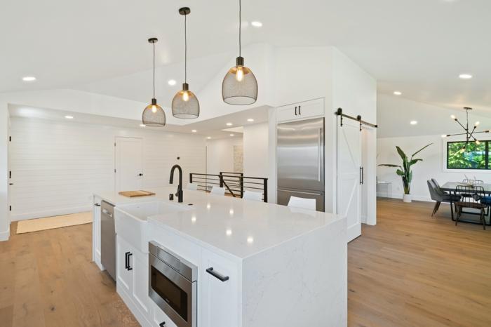 moderne küche inneneinrichtung küchenbeleuchtung wichtige tipps