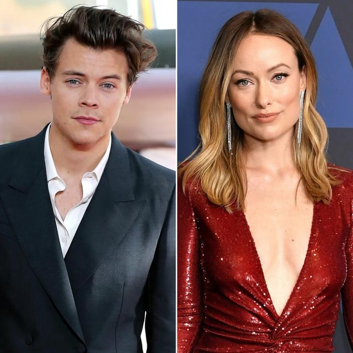 neues hollywood paar olivia wilde harry style girlfriend gerüchte rotes kleid v ausschnitt