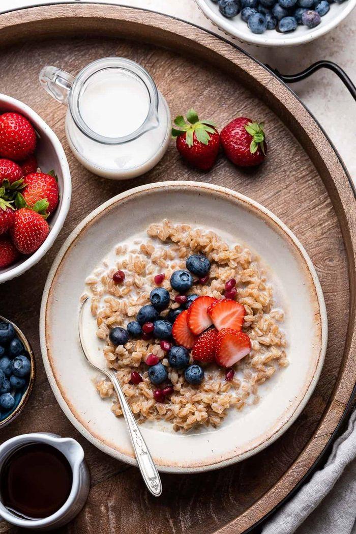 rezept bircher müsli frühstücksideen zum abnehmen gesund essen