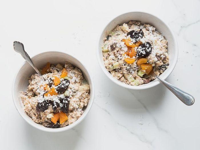 rezept bircher müsli gesund frühstücken haferflocken zum frühstück