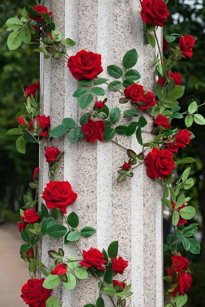 rosen richtig schneiden gartendeko mit blumen rote rosen gartendeko beispiele
