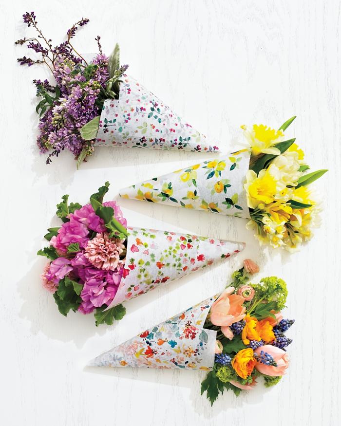 schöne kleine blumensträuße muttertagsgeschenke pinterest geschenke vom herzen gelbe pinke lila blumen