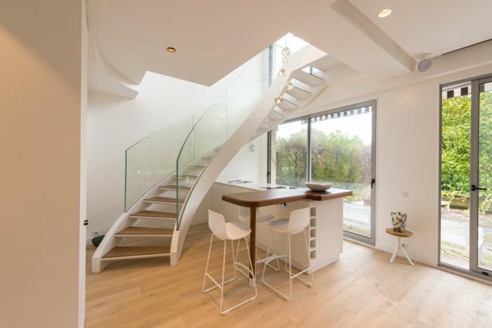 souterrain bedeutung kellerraum gestalten wohnzimmer treppen souterrain fenster terasse kücheninsel weiß
