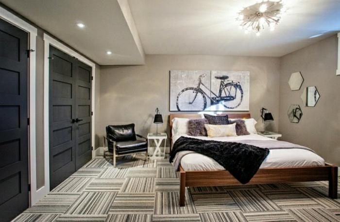 souterrain fenster souterrain wohnung weniger wert kellerraum gestalten schlafzimmer im keller doppelbett schränke sessel