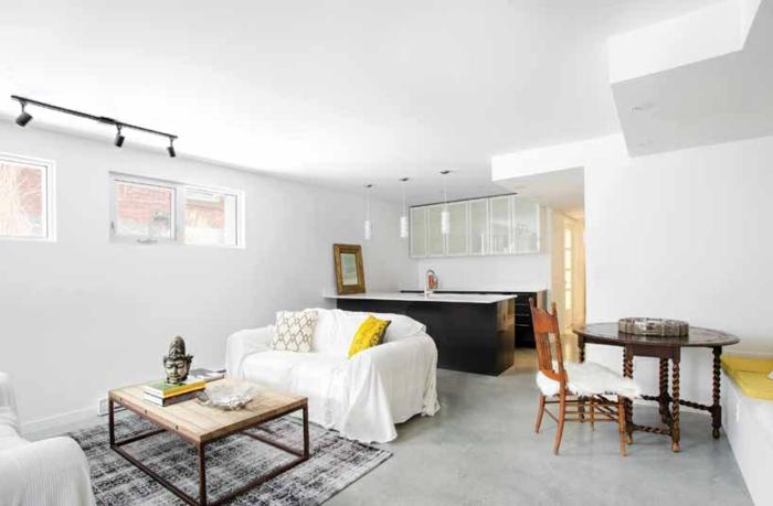 souterrain was ist souterrain kellerraum gestalten wohnzimmer einrichten weiße möbel wände licht
