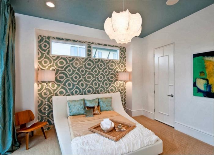 souterrain wohnung weniger wert schlafzimmer im keller was ist souterrain schlafzimmer bett tapeten blaugrün weiße wände vorhang