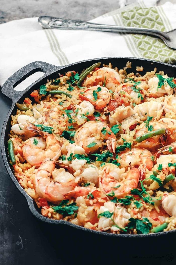 spanisch meeresfrüchte garnellen paella rezept original zubereiten was soll ich heute leckeres kochen abendessen ideen inspo
