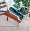 tisch mit epoxidharz außergewönliche möbel kleiner massivholztisch wohnung dekorieren
