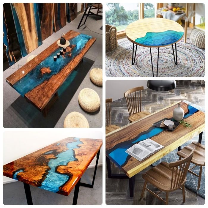 tisch mit epoxidharz bauen anleitung exklusive möbelstücke aus massivholz und harz