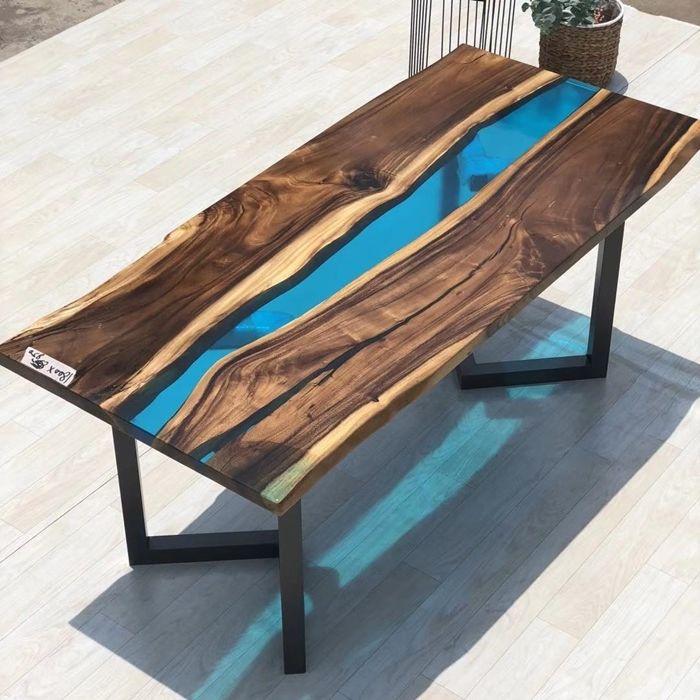 tischplatte selber bauen deigner tisch aus massivholz und epoxidharz