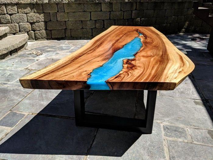 tischplatte selber bauen einzigartige möbelstücke außergewöhnliche massivholzmöbel